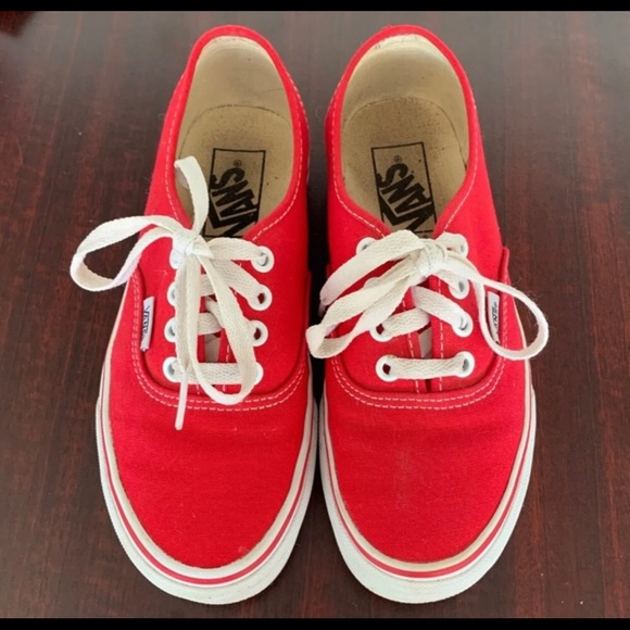 Vans Shoes | Red Lace Off The Wall